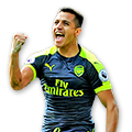 Sánchez FIFA 17 Team of the Week Gold